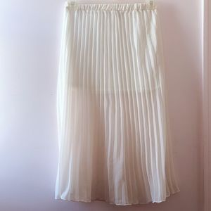 Love Culture Cream Long Skirt